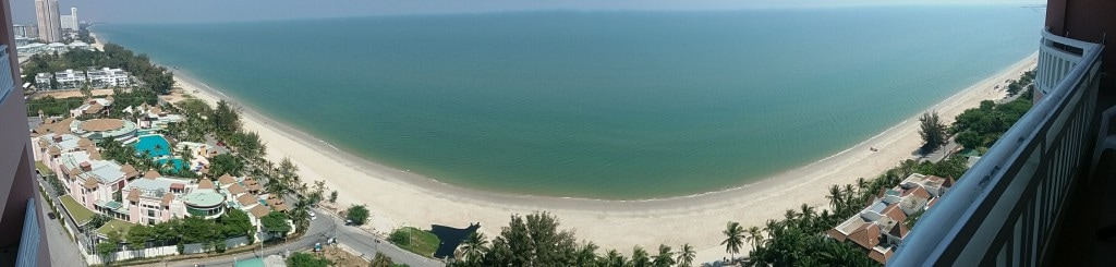 High Floor Sea View Furnished Beach Condo in Cha-am